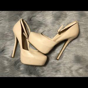 Women's Nude platform heels